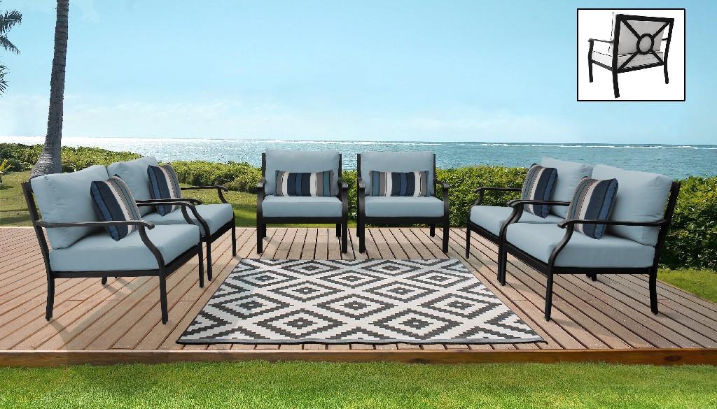 Tk Classics Outdoor Aluminum Patio Set Tranquil