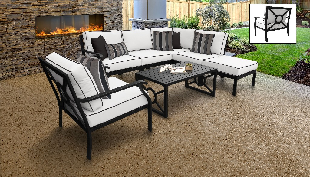 Tk Classics Patio Set Outdoor Aluminum