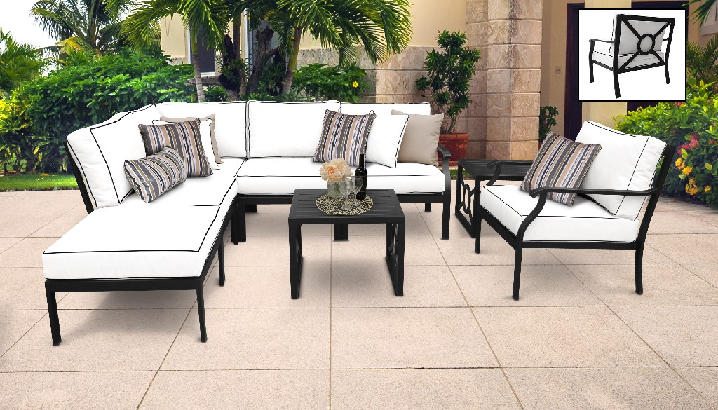 Tk Classics Outdoor Aluminum Patio Set Snow