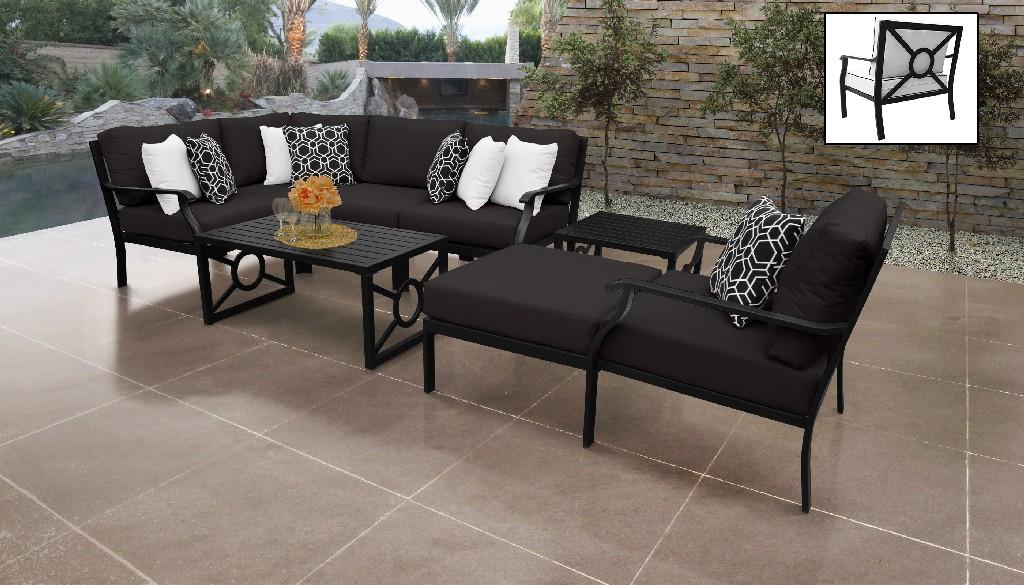 Tk Classics Outdoor Aluminum Patio Set Onyx