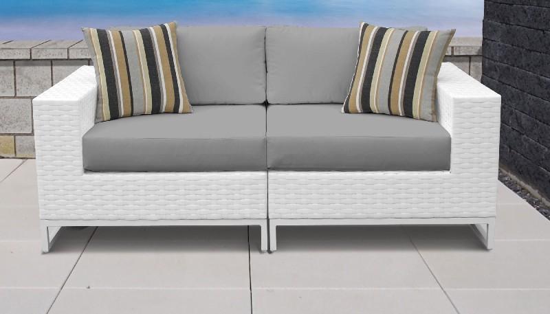 Tk Classics Outdoor Wicker Patio Set Grey