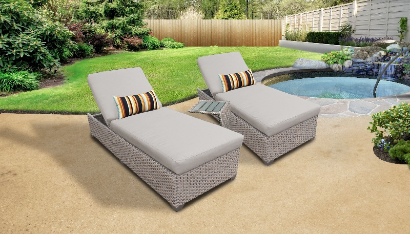 Tk Classics Furniture Chaise Wicker Patio Side Table