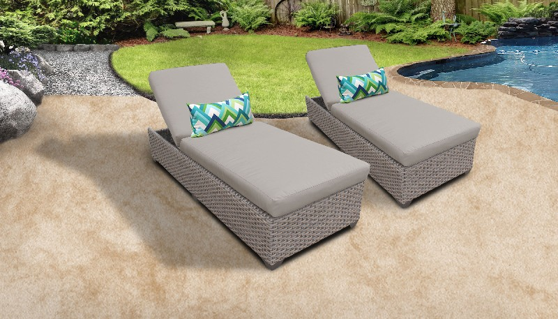 Tk Classics Chaise Wicker Patio