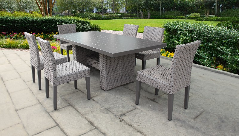 Tk Classics Furniture Dining Table Rectangular Patio Armless Chairs