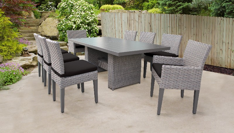 Rectangular | Outdoor | Classic | Patio | Chair | Table | Black | Dine