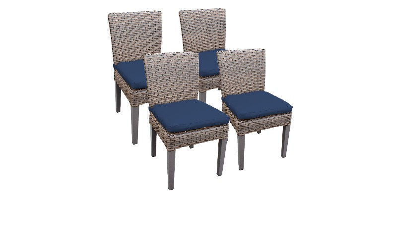 Tk Classics Armless Dining Chairs Navy