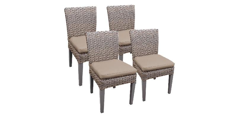 Tk Classics Armless Dining Chairs Wheat