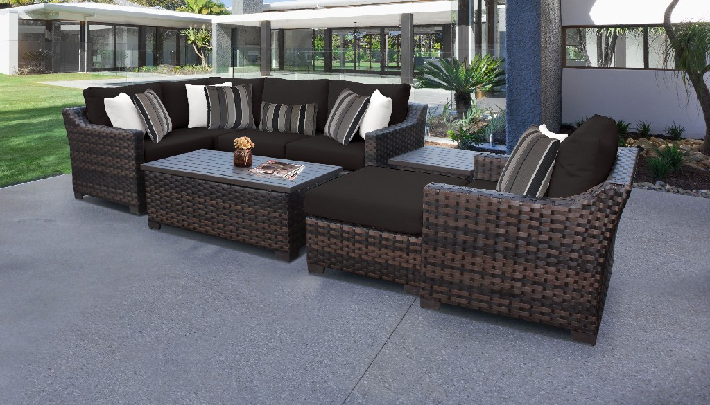 Tk Classics Outdoor Wicker Patio Set Onyx