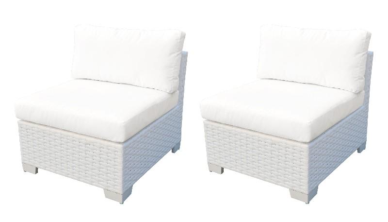 Armless Sofa Per Box Sail White