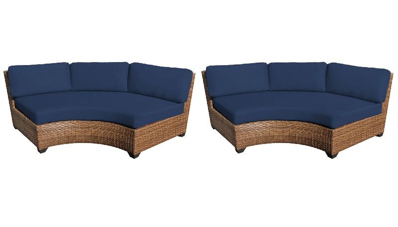 Tk Classics Curved Armless Sofa Per Box Navy