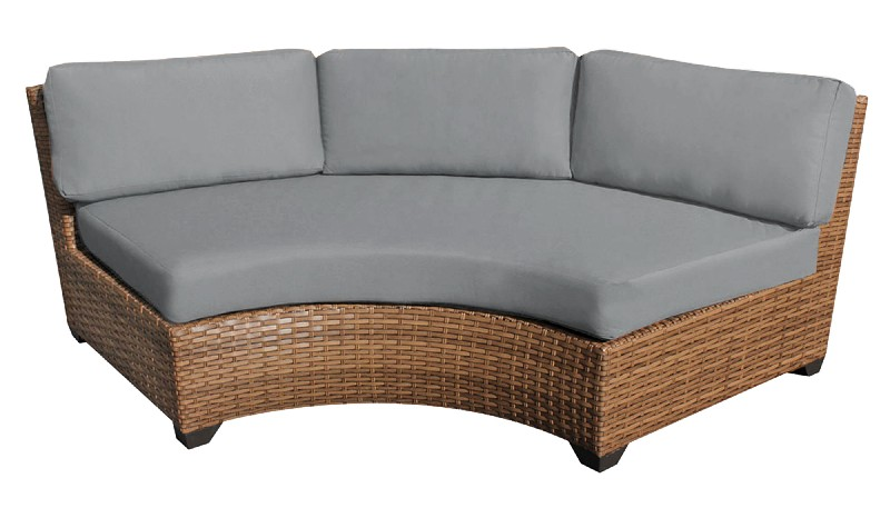 Tk Classics Curved Armless Sofa Grey