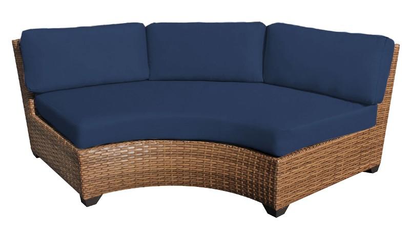 Tk Classics Curved Armless Sofa Navy
