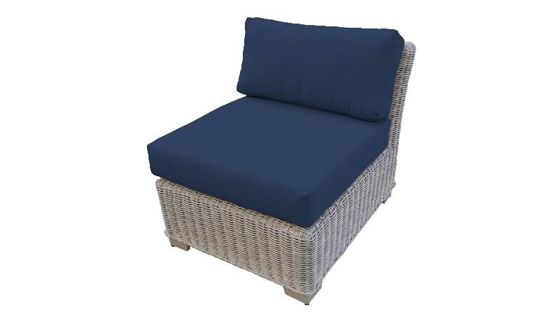 Tk Classics Armless Sofa Navy