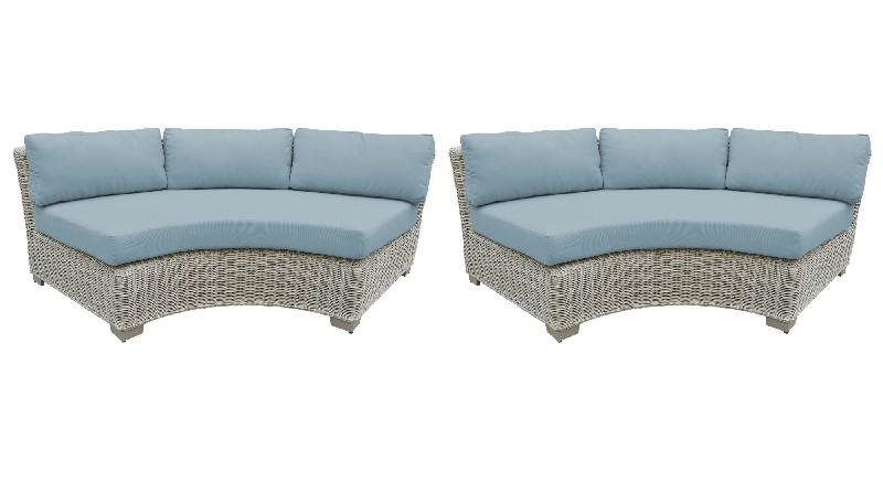 Tk Classics Curved Armless Sofa Per Box Spa