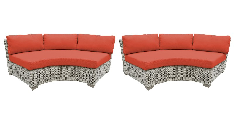 Tk Classics Curved Armless Sofa Per Box Tangerine