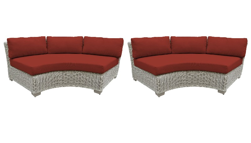 Tk Classics Curved Armless Sofa Per Box Terracotta