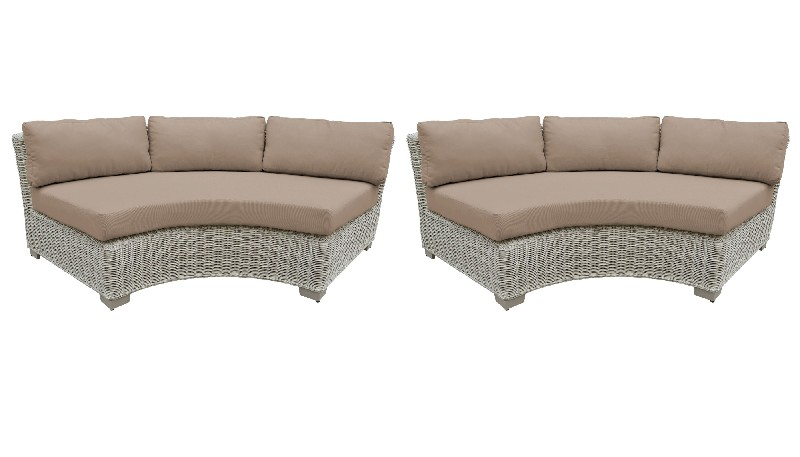 Tk Classics Curved Armless Sofa Per Box Wheat