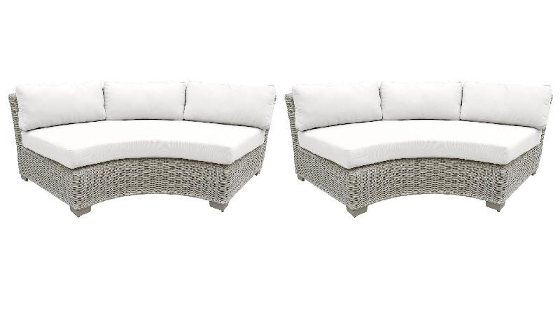 Tk Classics Curved Armless Sofa Per Box White