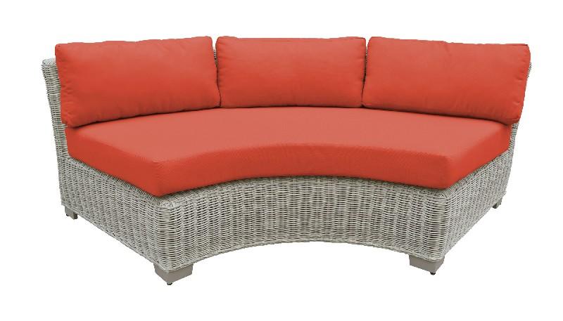 Tk Classics Curved Armless Sofa Tangerine