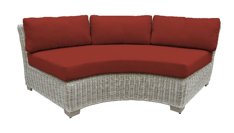 Tk Classics Curved Armless Sofa Terracotta