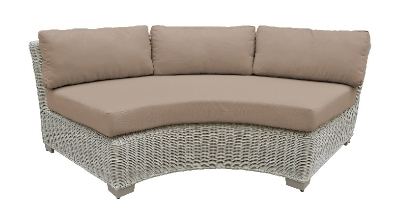 Tk Classics Curved Armless Sofa Wheat