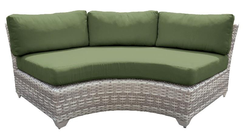 Tk Classics Curved Armless Sofa Cilantro
