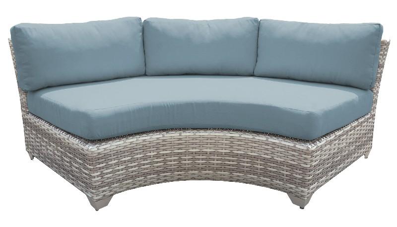 Tk Classics Curved Armless Sofa Spa