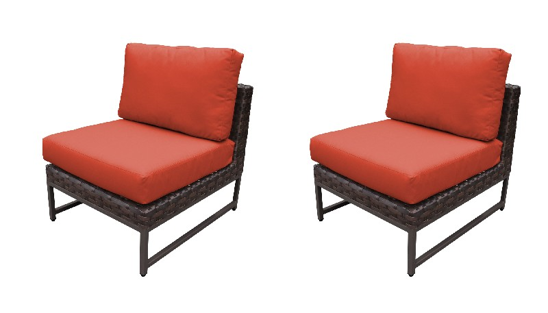 Tk Classics Armless Sofa Per Box Tangerine