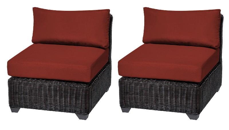 Tk Classics Armless Sofa Per Box Terracotta