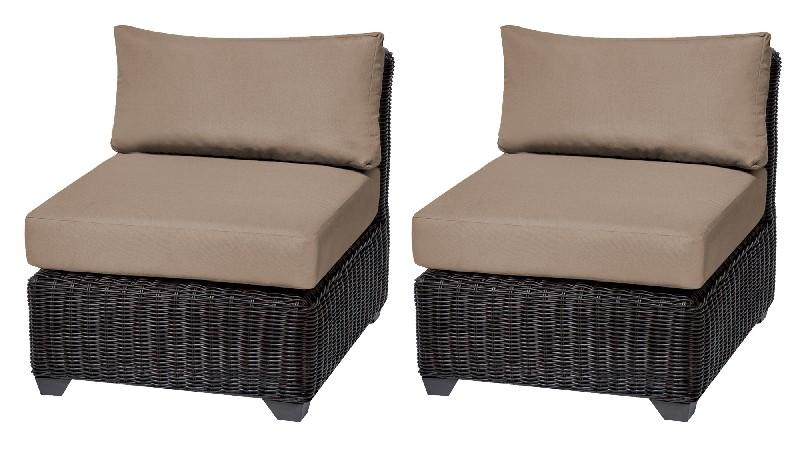 Tk Classics Armless Sofa Per Box Wheat