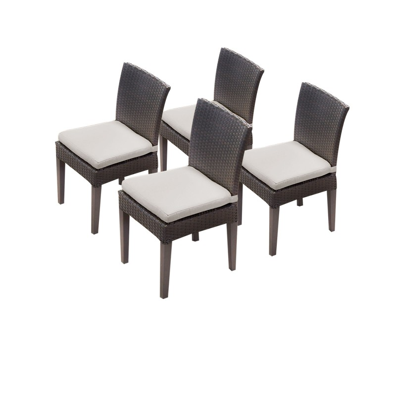 Tk Classics Armless Dining Chairs Beige