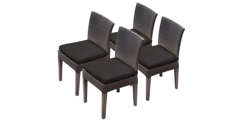 Tk Classics Armless Dining Chairs Black