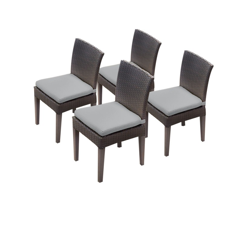 Tk Classics Armless Dining Chairs Grey