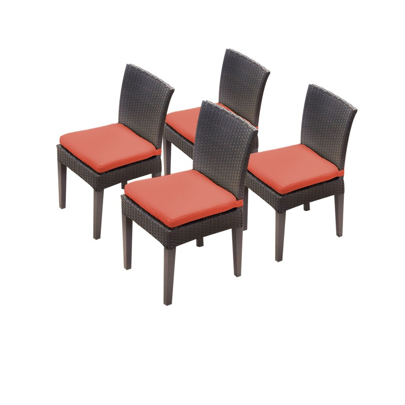 Tk Classics Armless Dining Chairs Tangerine