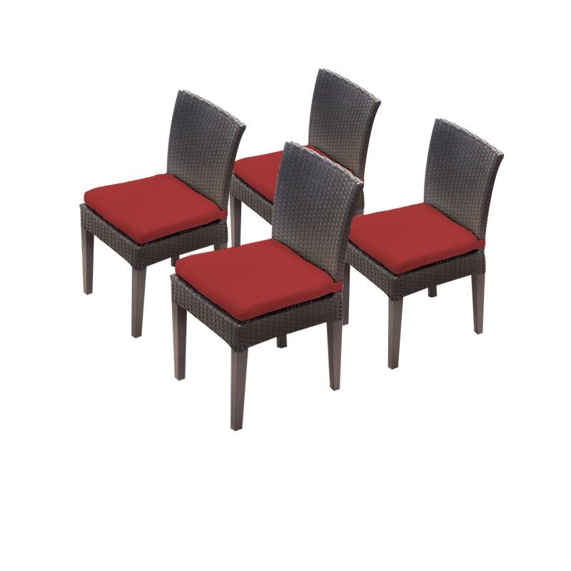Tk Classics Armless Dining Chairs Terracotta