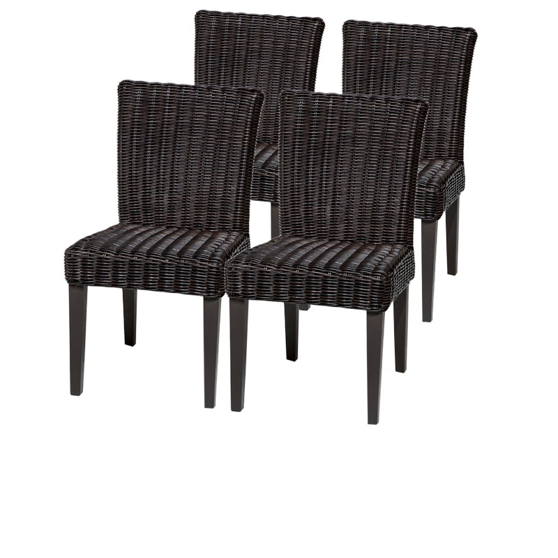 Tk Classics Armless Dining Chairs Chestnut Brown