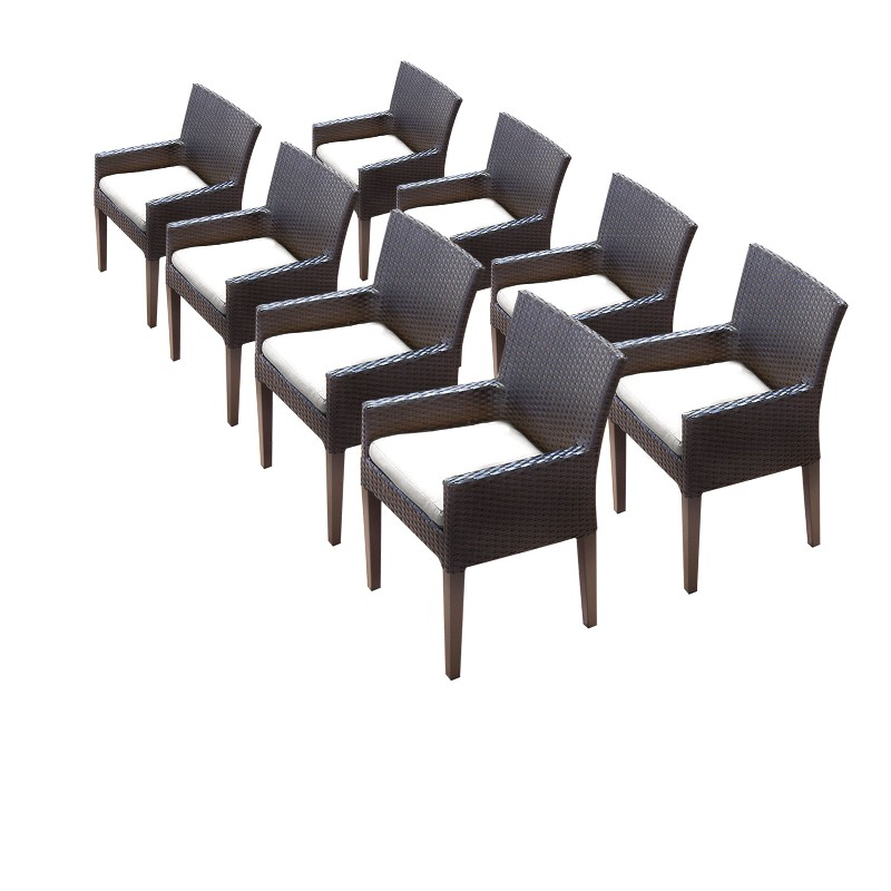 Tk Classics Dining Chairs Arms Sail White