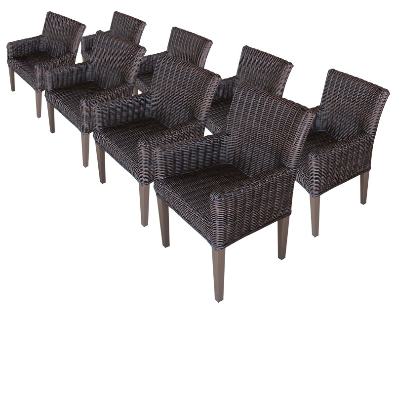Tk Classics Dining Chairs Arms Chestnut Brown