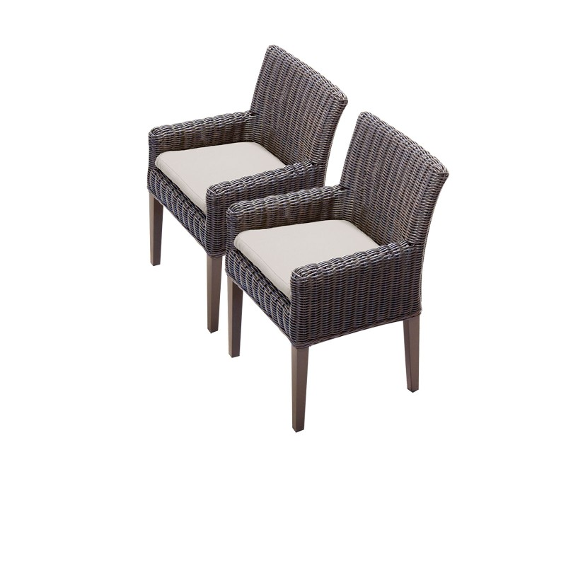 Tk Classics Dining Chairs Arms Beige