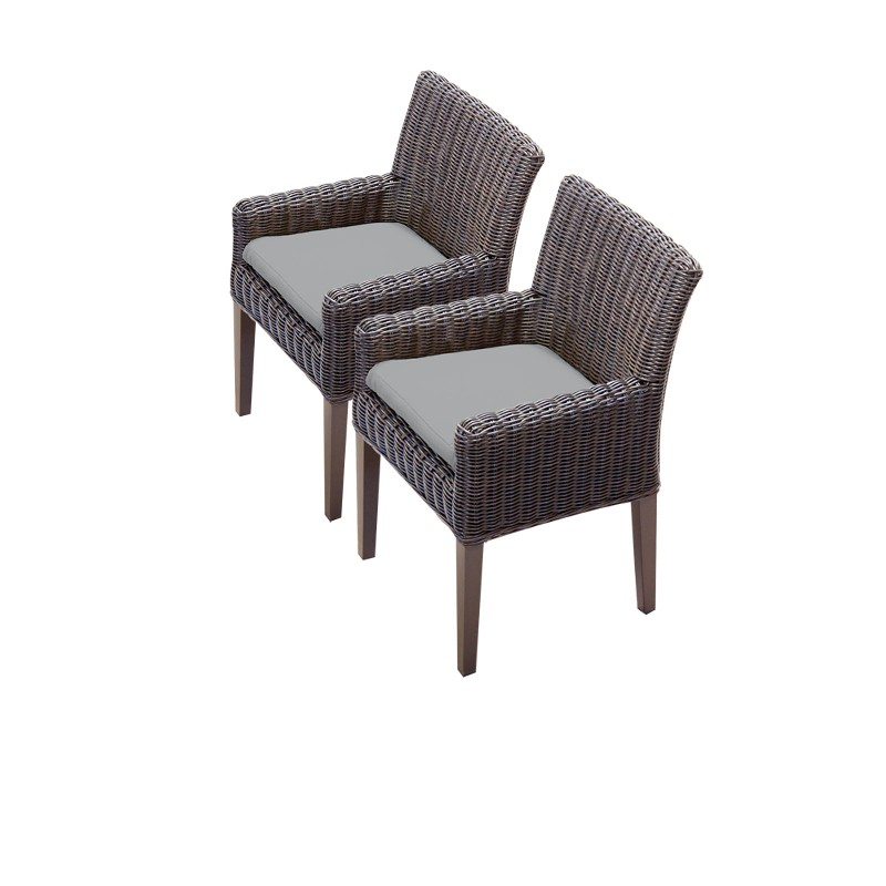Tk Classics Dining Chairs Arms Grey