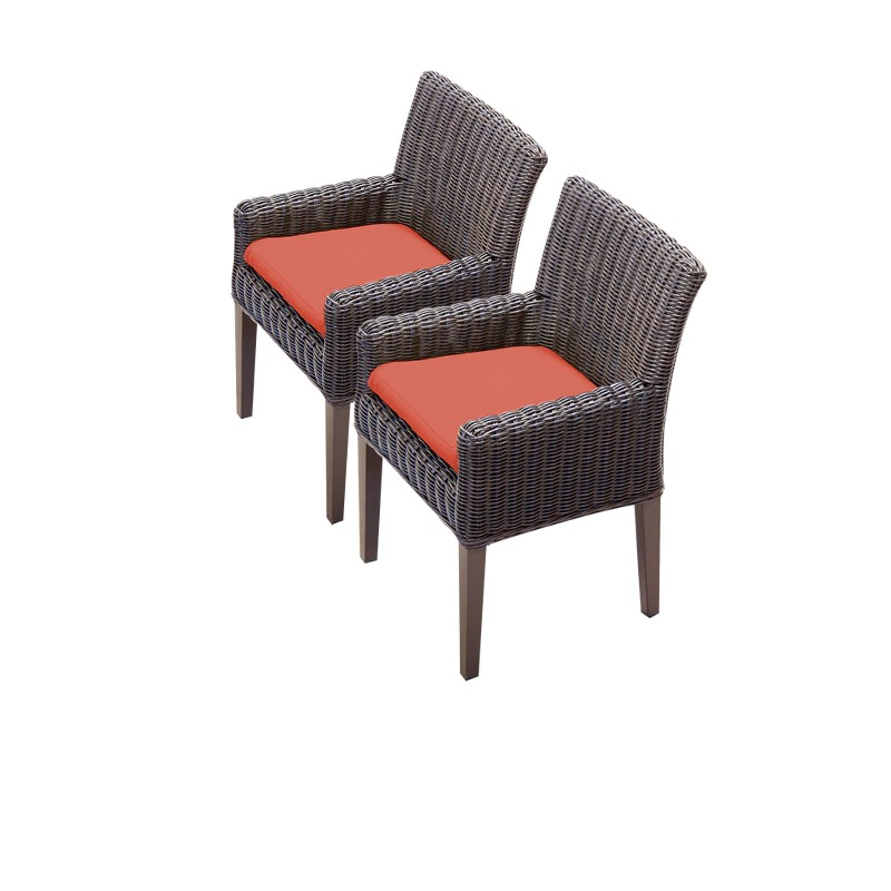 Tk Classics Dining Chairs Arms Tangerine