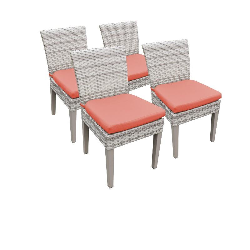 Tk Classics Armless Dining Chairs Tangerine