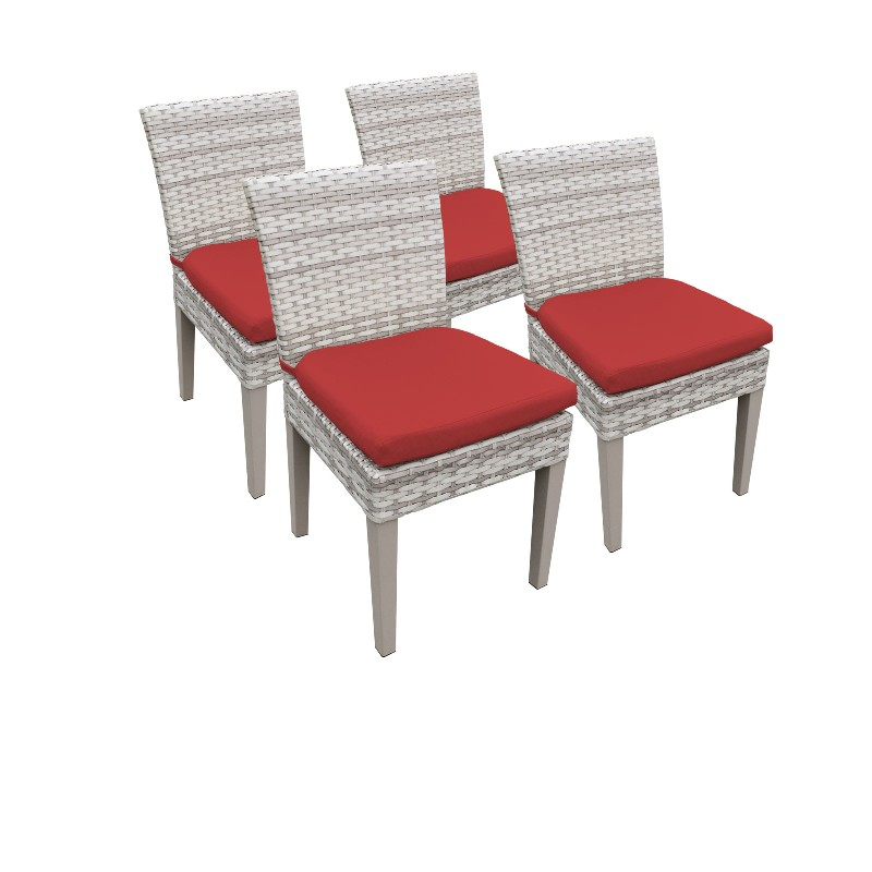 Tk Classics Armless Dining Chairs Terracotta