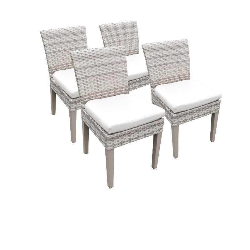 Tk Classics Armless Dining Chairs Sail White