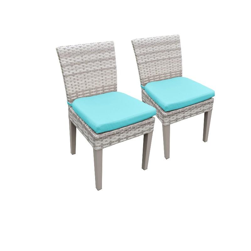 2 Fairmont Armless Dining Chairs in Aruba - TK Classics Tkc245B-Adc-C-Aruba
