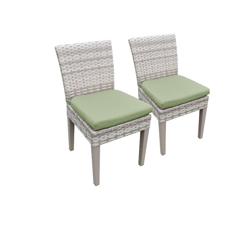 2 Fairmont Armless Dining Chairs in Cilantro - TK Classics Tkc245B-Adc-C-Cilantro