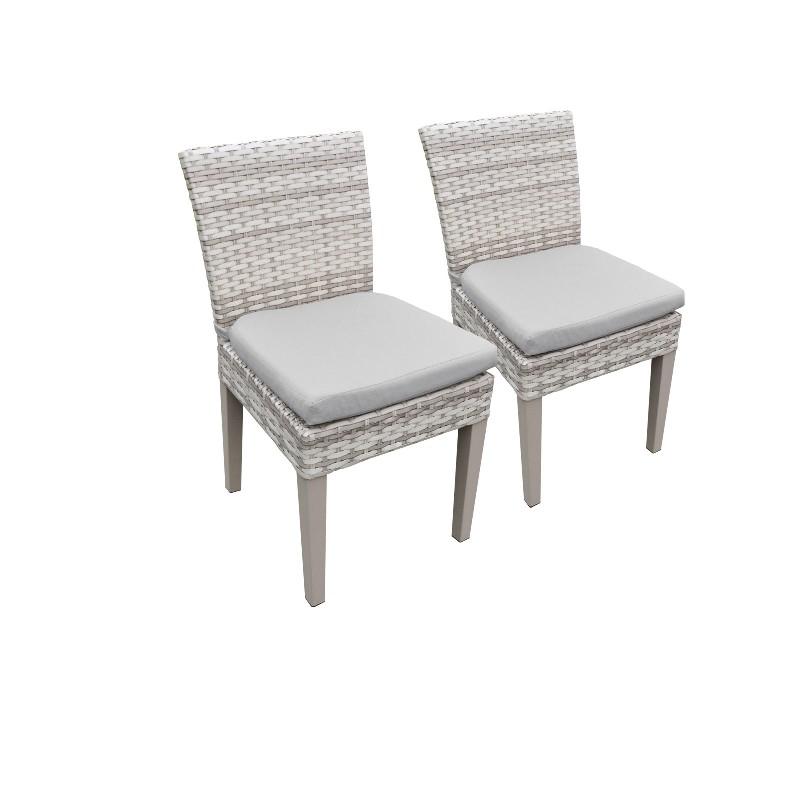 2 Fairmont Armless Dining Chairs in Grey - TK Classics Tkc245B-Adc-C-Grey
