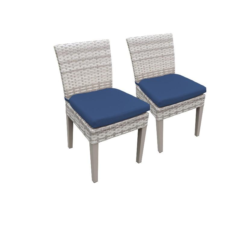 2 Fairmont Armless Dining Chairs in Navy - TK Classics Tkc245B-Adc-C-Navy