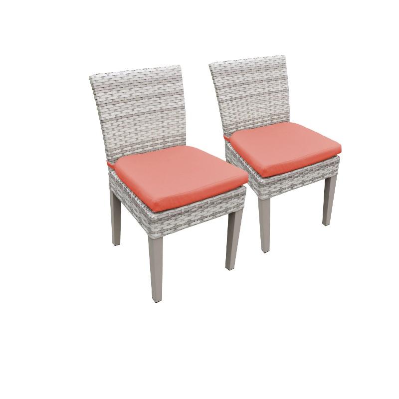 2 Fairmont Armless Dining Chairs in Tangerine - TK Classics Tkc245B-Adc-C-Tangerine
