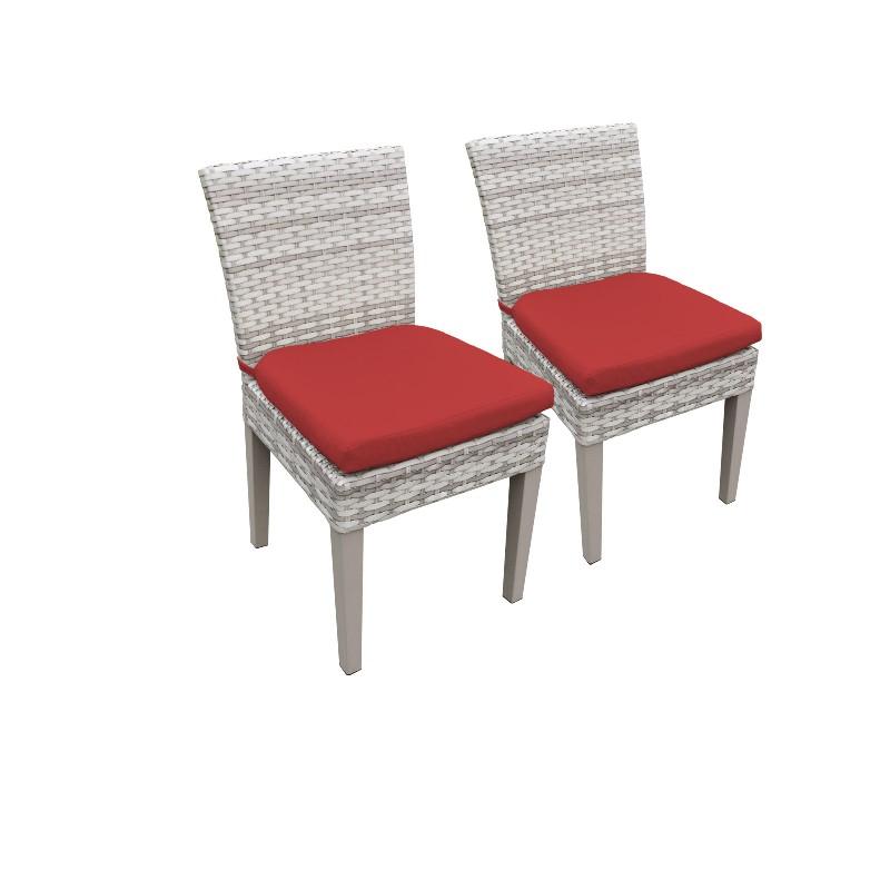 2 Fairmont Armless Dining Chairs in Terracotta - TK Classics Tkc245B-Adc-C-Terracotta